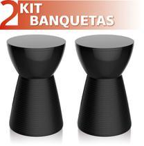 Kit 2 Bancos Sili colorida preto - IM In