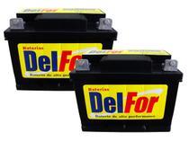 Kit 2 Bateria Estacionária Delfor 70ah 12v Nobreak Alarmes -