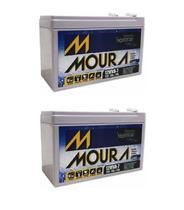 Kit 2 Baterias 12v 7ah Moura Equip Eletricos, Nobreak -