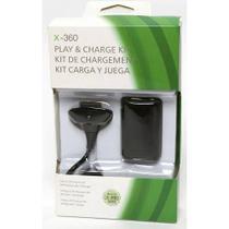 Kit 2 Baterias Carregador Controle Xbox 360 Fat E Slim - Feir