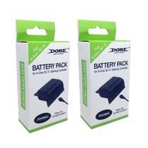 Kit 2 Baterias Preto + Cabos Compatível c/ Controle Xbox One (S)/X - Dobe