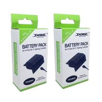 Kit 2 Baterias Recarregáveis Charger Preto Xbox One (S)/X - Dobe