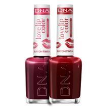 Kit 2 Batons Tinta Love Lip Color Love Cherry  Red DNA - 10ml -