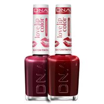 Kit 2 Batons Tinta Love Lip Color Love Red  Cherry DNA - 10ml -