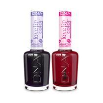 Kit 2 Batons Tinta Love Lip Color Love Uva  Pitaya DNA - 10ml -