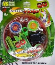 Kit 2 Beyblade Iluminada + 2 Lançadores + Arena infantil - Toy King