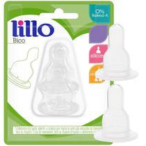 Kit 2 Bicos de Mamadeira Silicone Bebê Tamanho Universal Naturform Lillo -