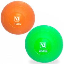 Kit 2 Bolas de Peso para Execicios 1kg + 2kg Liveup -