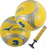 Kit 2 Bolas Futebol De Campo Nº 3 Sub 12 Oficial Termotec Pu - Vitoria Esportes