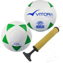 kit 2 Bolas Futsal Vitoria Brx 50 Sub 9 (6 A 8 Anos) + Bomba Ar - Vitoria Esportes