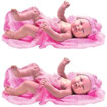 Kit 2 Boneca Coleção Bebês Anjo Criança Menina Estilo Reborn - Anjo Brinquedos