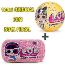 - Kit 2 Bonecas Surpresa Lol - 1 Under Wraps + 1 Confetti Pop - Candide