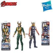 Kit 2 Boneco: Thor vs Loki Marvel Vingadores Avengers Hasbro -