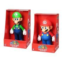 Kit 2 Bonecos Grandes Super Mario E Luigi 23cm Coleção - Super Size Figure Collection
