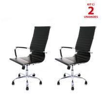 Kit 2 Cadeira Giratória Presidente charles Eames - Infomóveis