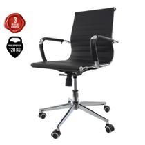 Kit 2 Cadeiras De Escritório Diretor Charles Eames Eiffel Branca - Cadeiras Inc