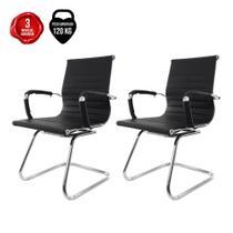 Kit 2 Cadeiras De Escritório Intelocutor Stripes Fixa Charles Eames Eiffel Elegante E Confortável - Baba Shop