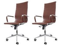 Kit 2 Cadeiras De Escritório Presidente Charles Eames Eiffel - Baba Shop