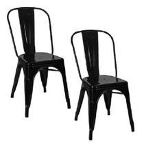 Kit 2 Cadeiras Tolix Preta - Gardenlife