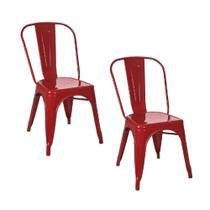 Kit 2 Cadeiras Tolix Vermelha - Gardenlife