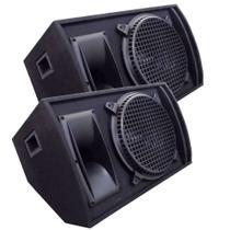 Kit 2 Caixa Som Retorno Top Palco Passiva 540w Rms Plug P10 - MULTI MARCAS