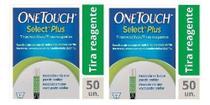 Kit 2 Caixas Tiras Onetouch Select Plus 50 Un -
