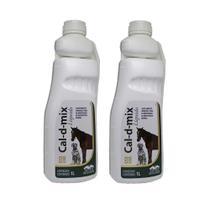 Kit 2 Cal-d-mix Liquido Suplemento Mineral Vetnil 1L -
