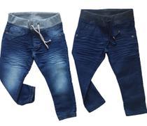 kit 2 calças jeans bebe menino com elastano Tam 3 - Jr Kids