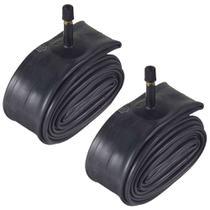 Kit 2 Câmaras Pirelli 26x1.50/1.1/2/1.3/8 Válvula Americana Preto -