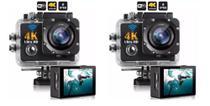 kit 2 Câmera 4k Ultra HD Sports Pro Wi-fi 30fps e 60fps Grave Vídeos Incríveis -