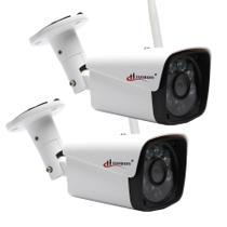 Kit 2 Camera De Segurança Externo Wireles Ao Vivo Prova Chuva Agua App Camhi - Hamy