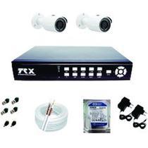 kit 2 câmeras de infra vermelho analógica, Gravador DVR 4 canais com HD 160 gb - Trx