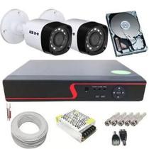 Kit 2 Câmeras de Segurança 720p 1 Megapixel + DVR 4 Canais multi hd - Luatek