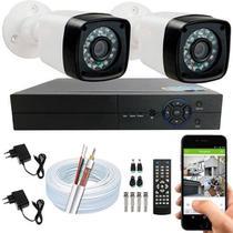 Kit 2 Câmeras De Segurança Residencial Full Hd 1080p 20m S/ hd - Luatek