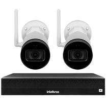 Kit 2 Câmeras IP Wifi Bullet Intelbras VIP 1230 W + NVD 1304 -