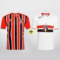c59323f0638 Kit 2 Camisas Branca + Listrada Sao Paulo Under Armour 2016