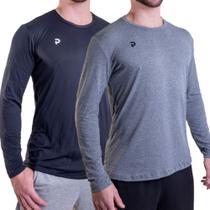 Kit 2 Camisetas Punnto Masculina Manga Longa Poliamida -
