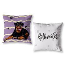 Kit 2 Capas de Almofada Pet Quarto Sala 40cm Rottweiler - Mercado Bordado