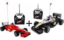 kit 2 Carrinho Carro Controle Remoto Formula 1 - TOYS