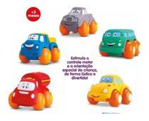 Kit 2 Carrinho Soft Cars Mordedor Para Bebe  - Divertoys -