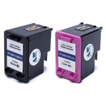 Kit 2 Cartucho Para Impressora 122 Preto + 122 Colorido XL Microjet -