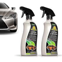 Kit 2 Cera Líquida Carnaúba Cristalizadora Spray BTS Autoshine Premium -