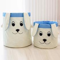 Kit 2 Cestos Organizadores De Roupa Ou Brinquedo Quarto Cachorro Azul Menino - Casa Pedro