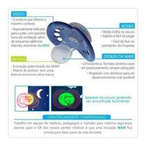 Kit 2 Chupeta Silicone MAM Night Brilha no Escuro 0-6M Rosa -