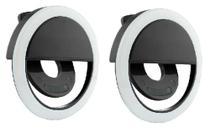 kit 2 Clipe Anel Luz Pra Selfie Ring Light Flash Celular Universal - Dgs