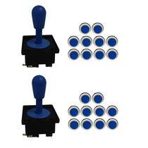 Kit 2 Comandos Aegir 20 Botões Corpo Branco Azul -