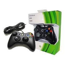 kit 2 Controle Joystick Com Fio Xbox 360 Slim Pc Computador - Altomex
