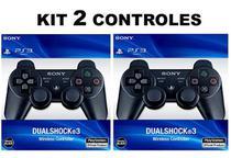 kit 2 Controle manete Ps3 play 3 Dualshock 3 Original Sem fio wireless - Sony