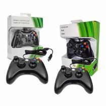 Kit 2 Controle Para Xbox 360 E Pc Com Fio - Jk