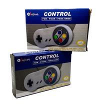 Kit 2 Controle SNES USB PC Jogos Retro Compativel Emuladores - Lapan